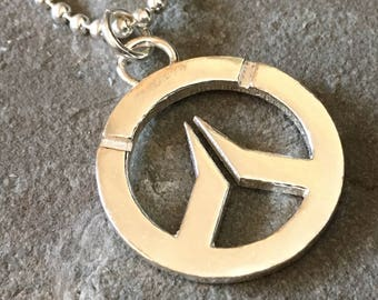 Overwatch Sterling Silver Large Necklace w. Ball Chain