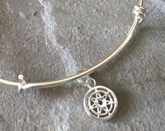 Seven Pointed Star Game of Thrones Adjustable Bracelet, Bangle, Geeky Gear, Nerdy Jewelry, Gaming Gear, Girly Geek, Gamer Girl, Clan Bling