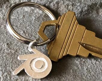 Blender 3D Sterling Silver Keychain