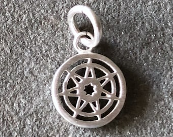 Seven Pointed Star Game of Thrones Sterling Silver Charm