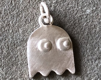 Gaming Ghost Sterling Silver CHARM