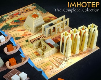 Imhotep: Builder of Egypt Egyptian The Complete Collection Reed Ships. Sled. Pyramid, Temple, Burial Chamber