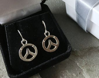 Overwatch Sterling Silver Large Dangle Earrings