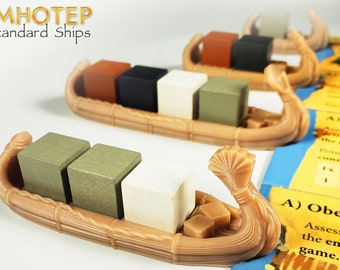 Imhotep Mini Reed Ships & Sled: Builder of Egypt Standard Edition