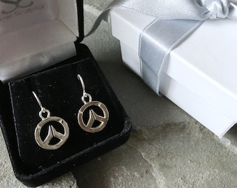 Overwatch Sterling Silver Small Dangle Earrings