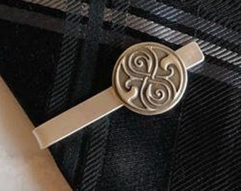 Seal of Rassilon Sterling Silver Tie-bar | Doctor Who Jewelry