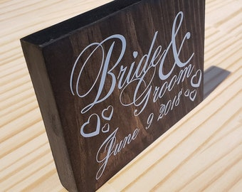 Bride & Groom Personalized Wedding Name Plate