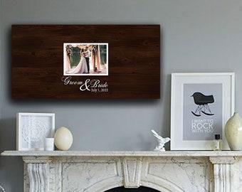 "24"" x 12"" Wedding Guest Book Signature Frame"