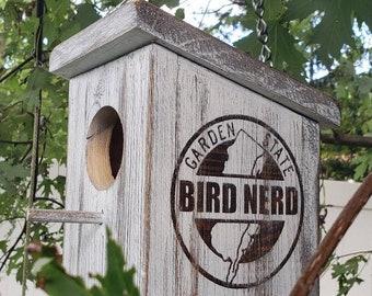 I Love New Jersey Garden State Bird Nerd Birdhouse