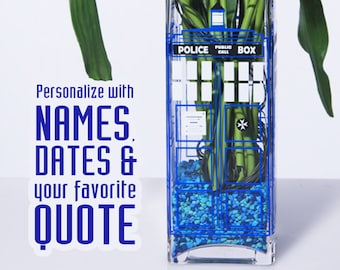 Personalized British Police Box Wedding & Event Table Center Piece