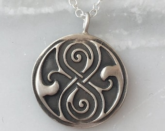 Seal of Rassilon Sterling Silver Necklace | Doctor Who Jewelry