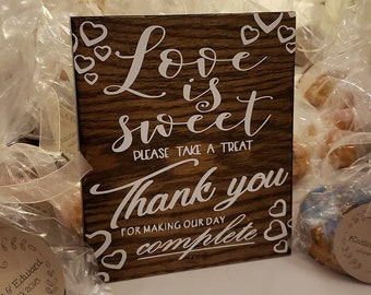 Love is Sweet Thank You Wedding Sign