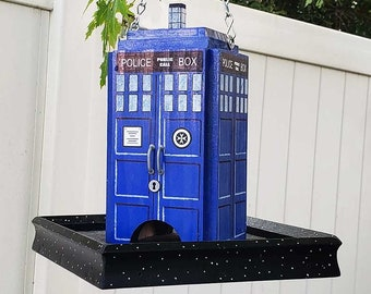 British Police Box Bird Feeder