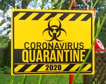 Coronavirus Quarantine 2020 Bio Hazard Warning Sign