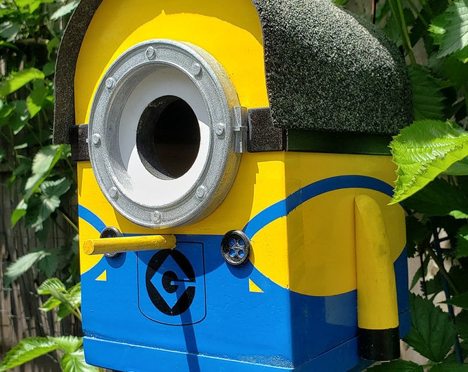 Featured listing image: Brian The Minion Birdhouse | The Minions Large Bird House