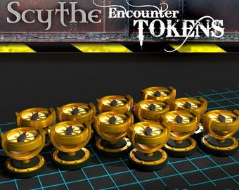 Scythe Encounter Tokens | Board Game Upgrades, 3D Printed Ready To Play Meeples