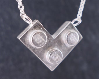L is for Love LEGO Sterling Silver Necklace