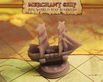RPG World Map Markers for Dungeons & Dragons Trackers | DnD, Custom Meeple, Boardgame Pieces, Sailing Ships, Meeples, Pirates, Privateers