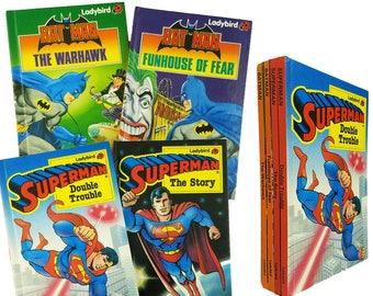 Batman & Superman DC Comics Ladybird Book Superhero Gift