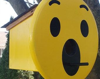 WoW Smiley Face Emoji Birdhouse