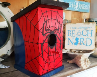 The Spidey House: Spiderman Birdhouse