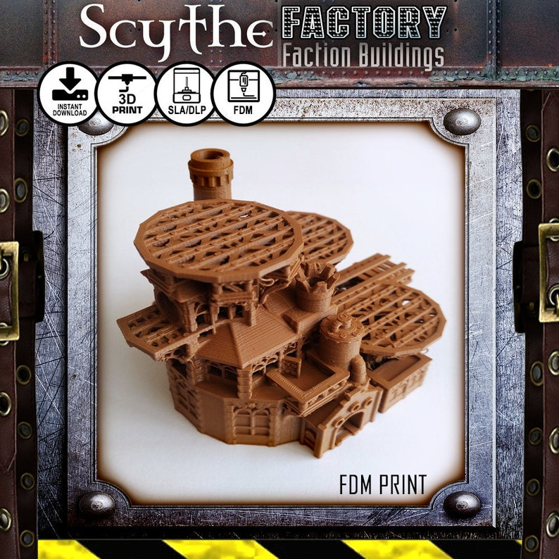 Scythe the Board Game Illuminated Factory Upgrade STL DIGITAL image 0