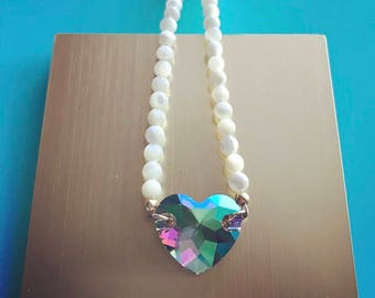 Heart Among Pearls Necklace