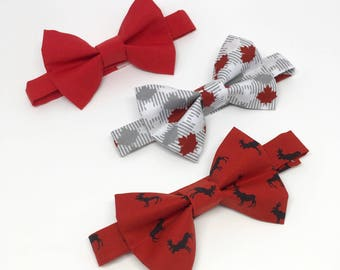 8c37a7be Canadian Bow Tie // Canada Day // Moose Bow Tie // Maple Leaf Bow Tie //  Red and White // Toddler Bow Tie // Baby Bow Tie // Red