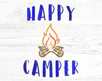 Happy Camper SVG, DXF, png, jpg - Digital Files Only - Camping Svg