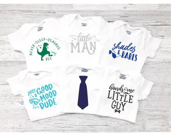 ad58165e2 Boy Baby Shower Decorating Station - Baby Shower Iron On Transfers - (Group  #7) - DIY Baby Clothes - Set of 6