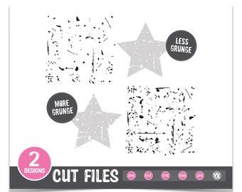 Grunge Effect SVG - Distressed SVG Effect - Digital Files Only - Set of 2 SVG Files