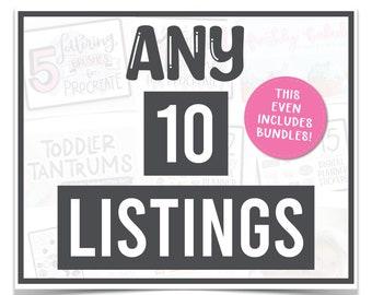 Build Your Own Bundle - Pick 10 SVG Bundle - Pick Your Own SVG Bundle - Mega SVG Bundle of Any 10 Listings