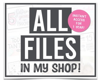 Whole Shop SVG Bundle - All-Access Pass for My ENTIRE Shop - Every Single Listing for 1 Year! - Mega SVG Bundle