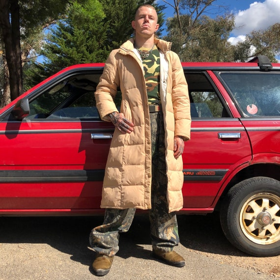 80's - 90's TIMBERLAND Long Puffer Trench Coat