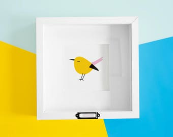 Yellow Birdie Print