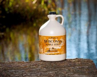 0a2e152975c Pure Wisconsin Maple Syrup Half Gallon Grade A Medium Amber