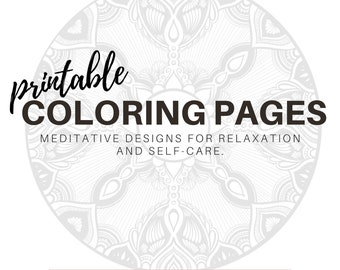 Printable Coloring Pages for Relaxation and Self-Care