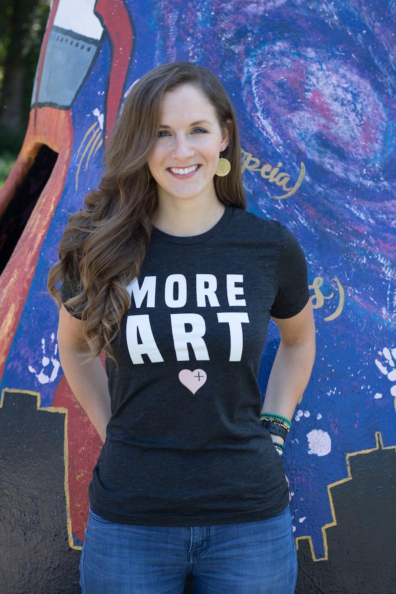 MORE ART  Love Sum Statement Tee  For Art Teachers Art image 0