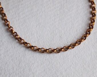 b17b01e2dfc Victorian 'Albert' Belcher 9ct Rose Gold Chain Necklace