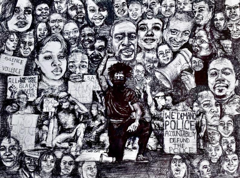 Black Lives Matter  100% of Proceeds to BLM Nonprofits  Art image 0