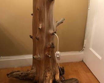 Rustic Fur Root Floor Lamp
