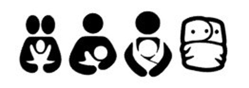 Baby Wearing Cloth Diapering Cosleeping Vehicle Decal Breastfeeding
