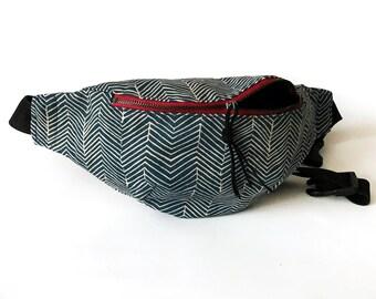 664e5cff5a7e26 Bum bag for women, Festival fanny pack for men, Blue hip bag, Cotton bumbag  for men, Sac banane