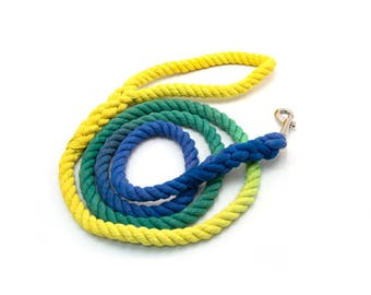 """Rope Leash """"The Misfit"""" Hand dyed dog leash"""