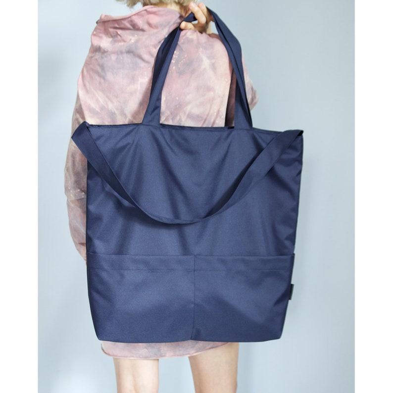 971d525510ae3 Navy Blau extra große Tasche dunkelblauen Stoff Tasche