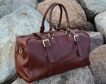 8523b97a51 Mens leather duffel bag