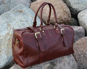 377aafdd2c Mens leather duffel bag