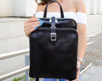 0dd7499630a9 Leather backpack for women