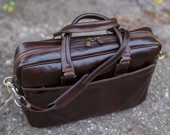 Leather briefcase for men, Messenger bag, Laptop Bag, Mens handbag, Womens shoulder bag - The Little Prince
