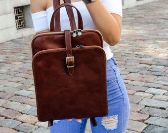 Womens leather backpack e73f2c37aa7c1
